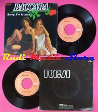 LP 45 7'' BACCARA Sorry i'm a lady Love you till i die 1977 france no cd mc dvd