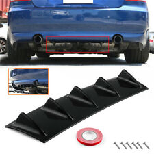 5 Shark Fin Black Universal Lower Rear Bumper Body Spoiler Decor Wing Diffuser