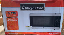 Magic Chef MCD1811ST 1.8 Cu. Ft. 1100W Countertop Microwave Oven Stainless Steel