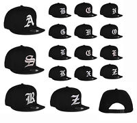 New Mens hat letter A - Z unisex Black hats baseball cap casual hat multi colors