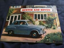 1950s BMC Austin A30 Seven Color Original Brochure  Prospekt