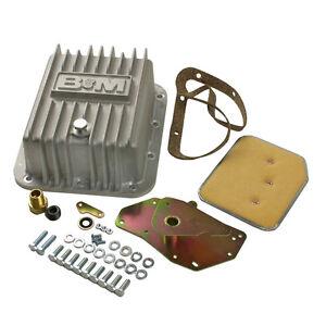B&M 50281 Finned Cast Aluminum Ford C4 Deep Transmission Pan +2 Quarts