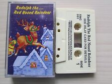 RUDOLPH THE RED NOSED REINDEER CHILDREN'S CASSETTE, 1994 SFC, TESTED.