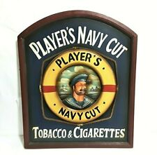 "Player's Navy Cut"" Tobacco Cigarettes Wood Wall Decor"