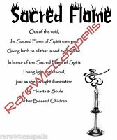 Sacred Flame Blessing Spell for Wicca Book of Shadows Pagan Occult Ritual