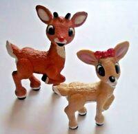 CLARICE & RUDOLPH REINDEER Plastic PVC Figure Island Misfit Toys PLAYING MANTIS
