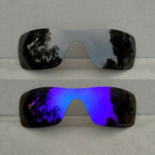 Black&Purple Replacement Lenses for-Oakley Batwolf Sunglasses Polarized