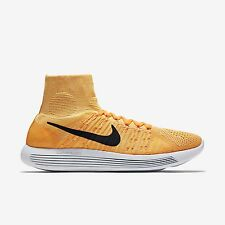 NIKE LUNAREPIC FLYKNIT Running Trainers Sock Shoes Gym UK 8.5 (EUR 43) Orange