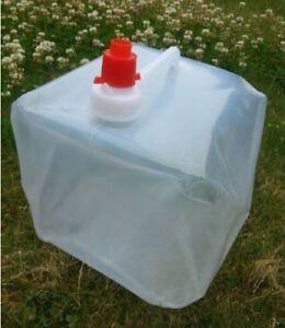 Tanica Campeggio Pieghevole 10 LT Acqua Uso Alimentare Camper Viaggio Liquidi