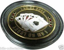 I AM SO GOOD gold color Poker Card Guard Protector