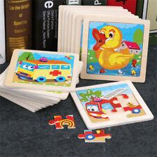Baby Kids Training Toy Jigsaw Toys 9pcs Wooden Puzzle Educational Developmental