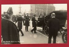 More details for george v king's visit to weymouth 1912 rp pc unused j welch & sons  al190