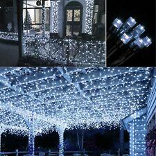 72ft 200Led Solar String Lights Cool White Party Fairy Light Garden Yard Outdoor