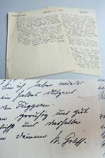 Kunsthistoriker Walter GRÄFF (1876-1934): 2 eh. Briefe 1914 an Friedrich FREKSA