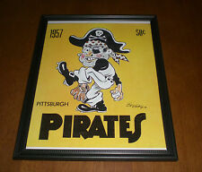 1957 PITTSBURGH PIRATES FRAMED YEARBOOK PRINT