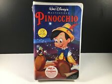 Walt Disney's Pinocchio VHS Masterpiece Collection New Sealed Clamshell Cracked