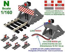 RESPINGENTE con LUCE LED ROSSA a 12V cc/ac per BINARIO MORTO o TERMINALE SCALA-N