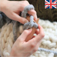 1 Pc 20mm Jumbo Giant Thickness Wood Knitting Needle Chunky Bulky Yarn  yRWuS
