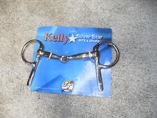"NEW KELLY SILVER STAR 5"" HALF CHEEK SNAFFLE CP DRIVING  BIT"