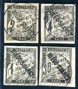 DIEGO SUAREZ PORTO 1892 Yvert TT 3-4,6 ,11 gestempelt 300€(D7047