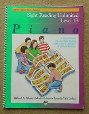 Sight Reading Unlimited Book 1B - Piano: Alfred's Basic Piano Library - Spiral