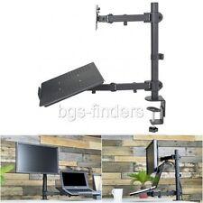 """Dual Desk Mount Monitor Laptop Stand Table Desktop Holder Adjustable up to 24"""""""