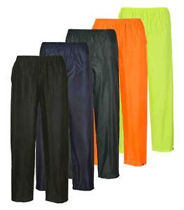 Portwest Classic Adult Rain Trousers Waterproof Elasticated Waist S441