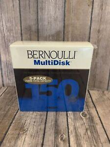 New Sealed 3 Pack Iomega Bernoulli 150MB Flexible Disk Cartridges - 750MB! A10