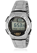 Casio 60 Lap Memory World Time Pace 5 Alarms 10 Yr Battery Watch W-734D-1AV New