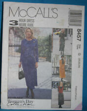 UNCUT McCall's 8457 - Misses' 3-HR DRESS w/ MOCK VEST size 20,22,24 (42)