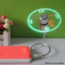 Creative USB Gadget Mini Cooling Flexible Time LED Clock Fan with LED Light ZH
