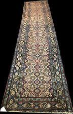 A Fantastic 16' Long Camel Ground Antique Sarab Hallway Runner Rug