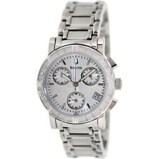 Bulova Women's Diamond Accents Multi Dial Chronograph 33mm Watch 96R19