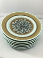 """Lot of 6 Franciscan Earthernware Nut Tree 6 1/2"""" Bread and Butter Plates USA"""
