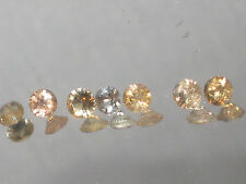 TOPAZ, Precious Imperial Topaz 3.25 mm round cut, yellow,orange,pink, 1 only
