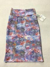 NWT Lularoe XS Floral Galaxy Batik Cassie Skirt Textured Stretchy