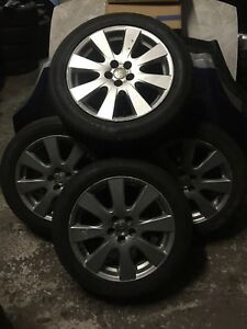 TOYOTA AVENSIS ALLOY WHEELS WITH TYRES GENUINE 17 INCH 215 55 R17