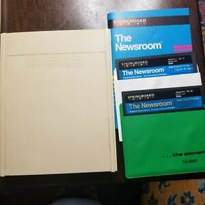 Newsroom Springboard software Apple II plus IIe 2 vintage computer