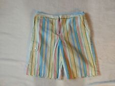 New listing St. Aumont Women's Golf shorts multi-colored striped Size 8 pockets