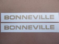 60-2103 TRIUMPH BONNEVILLE T120 650cc SIDE PANEL GOLD DECAL TRANSFER (PR)