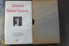 livre la pléiade album n°8 saint-simon 1969 TBE NRF