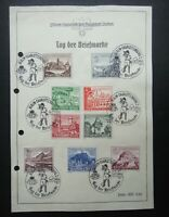 Germany Nazi 1939 Stamps Used Buildings Castle WWII Third Reich German Deutschla