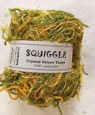 Crystal Palace Yarns Squiggle #434 Kiwis Mangos Green Yellow - Great CarryAlong!