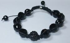 SHAMBALLA BEAD BRACELET 10mm Black Black Crystal 1 Pave Disco Ball Bling Hip Hop