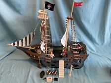 Imaginarium Pirate Ship Wooden Toy Sailboat Pretend Play Build with accessories