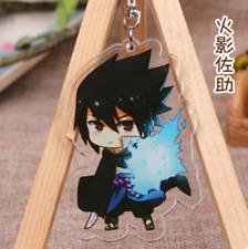 Hot Anime Naruto Uchiha Sasuke Acrylic Key Ring Pendant Keychain Gift