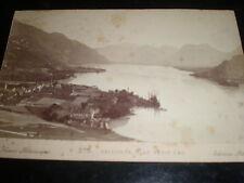 Cdv cabinet photograph Talloires & Le Petit Lac by Pittier Annecy France c1880s