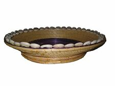 Natural Handmade Ethiopian Basket Cowrie Shells : Ethiopia Africa African Decor
