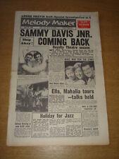 MELODY MAKER 1960 JULY 30 SAMMY DAVIS JNR ELLA FITZGERALD CLIFF RICHARD PREVIN +
