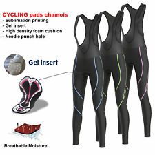 FDX Women Reflector Cycling Bib Tights Winter Thermal Padded Hi Viz Cycling Tigh
